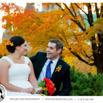 Downtown Ottawa Fall Wedding Picture - Ottawa Wedding Photographer