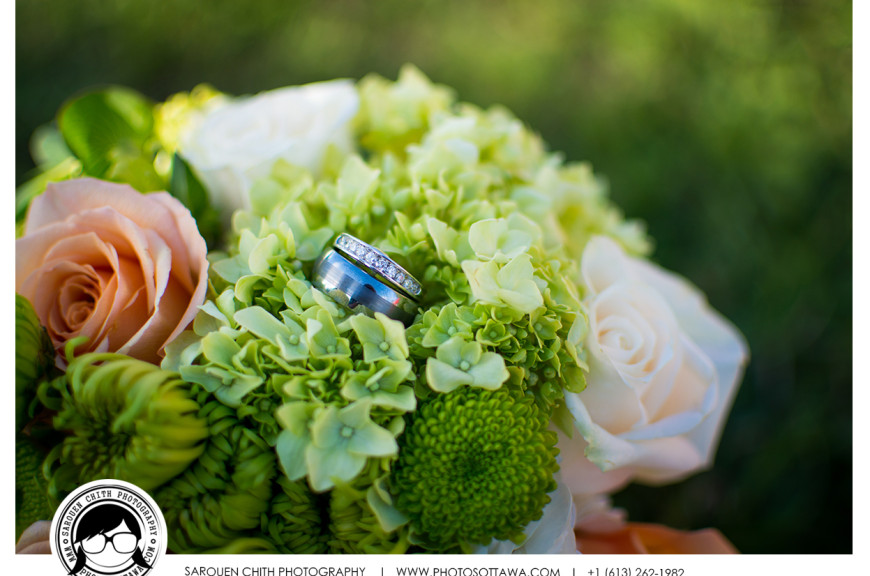 Wedding Bouquet with Ring Photos - Ottawa Wedding Photographer
