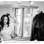 Bride getting ready - Black and white photography