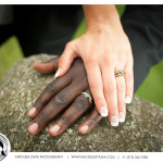 Bride and Groom showing Wedding Rings - Ottawa Wedding Photography